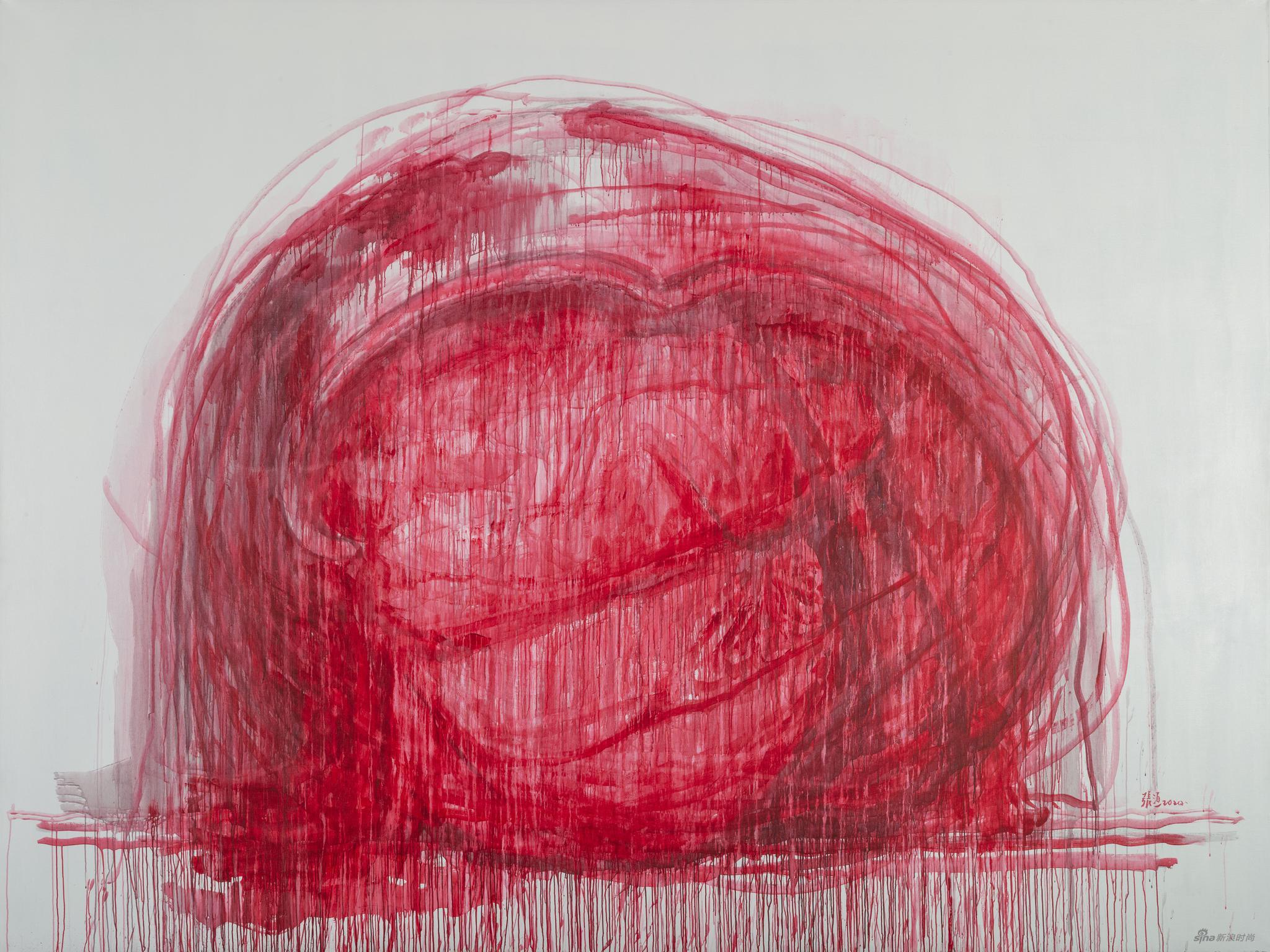 張洹, b.1965, Love No.2, 2020, Arcylic on Linen, 300 x 400 x 5 cm