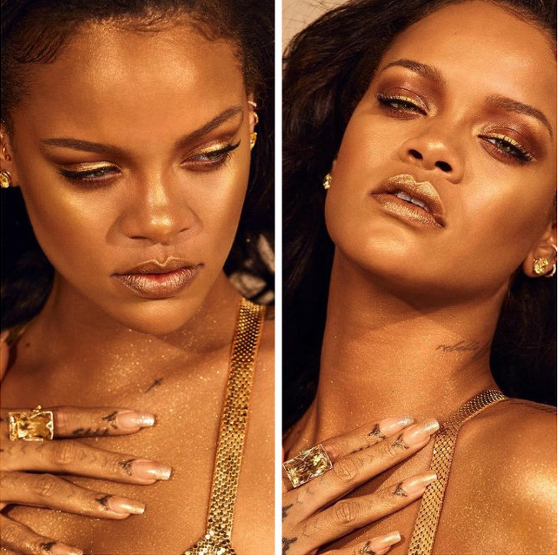 Rihanna亲自出镜身体高光广告大片
