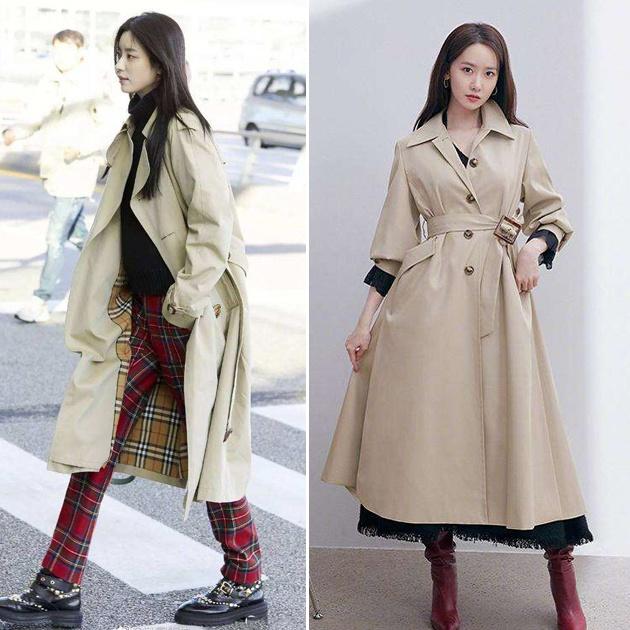 韩国女星风衣造型