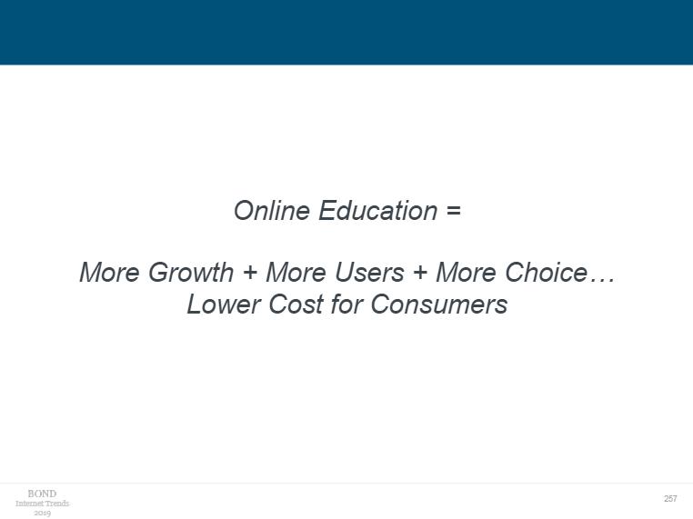 Mary Meeker对在线教育市场发展的总结(图片来源:《Internet Trends 2019》)
