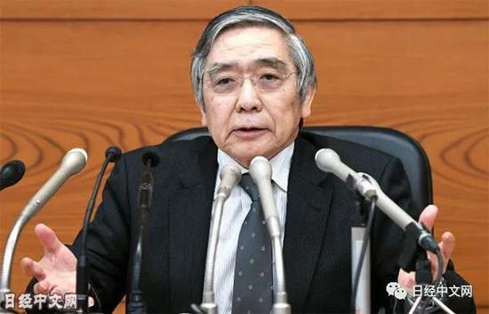 日本银行总裁黑田东彦3月15日举行记者会(日本银行总部)
