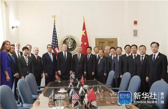 新一轮中美经贸高级别磋商在华盛顿开幕(图)