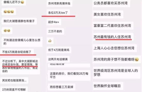 ▲太湖新城部分业主群截图