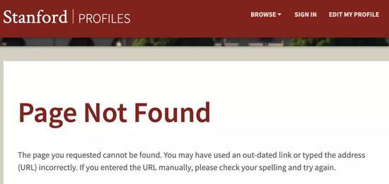 Yusi Zhao在斯坦福大学官网上的学生页面显示如上