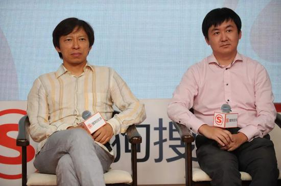 张朝阳(左)和王小川(右)