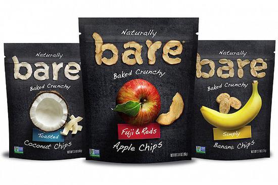 烘焙水果和蔬菜脆片是Bare Foods的招牌产品。