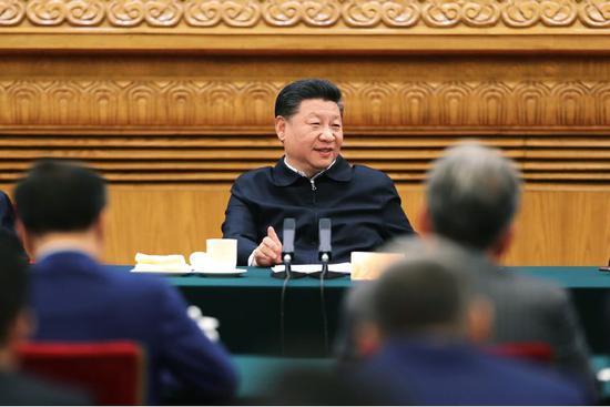11月1日,中共中央总书记、国家主席、中央军委主席习近平在北京人民大会堂主持召开民营企业座谈会并发表重要讲话。摄影/本刊记者 盛佳鹏