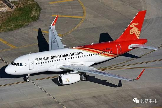 深航A319飞机在攀枝花机场降落时遇险 机身受损