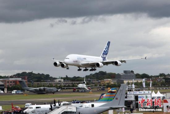 资料图:空中客车公司的民航飞机A380。中新社记者 周兆军 摄