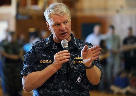 前海军上将拉夫暗德 原料图 图源:美国海军