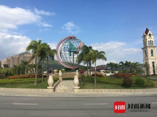 国茂清水湾养生度假区,不远处的新房被认定为违法建筑