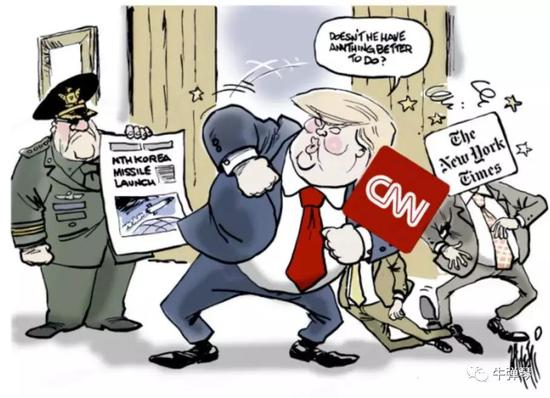 特朗普很生气。