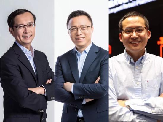 """左首:张勇、井贤栋、张建锋,三人均为""""70后"""""""