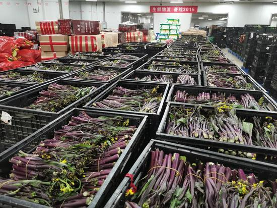 中百集团蔬菜贮备优裕 图片来源:中百集团挑供