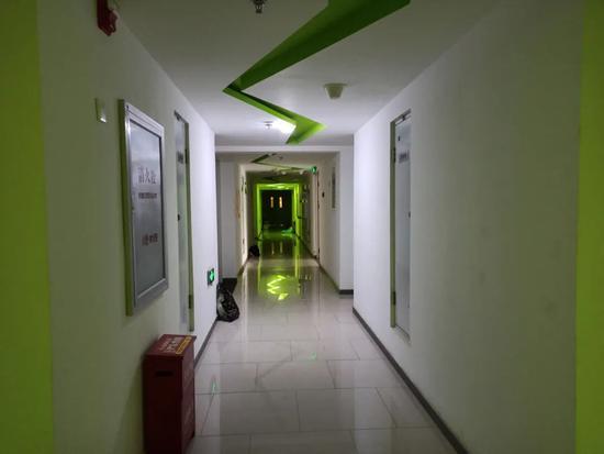 项目内部走廊每经记者 赵西岭摄