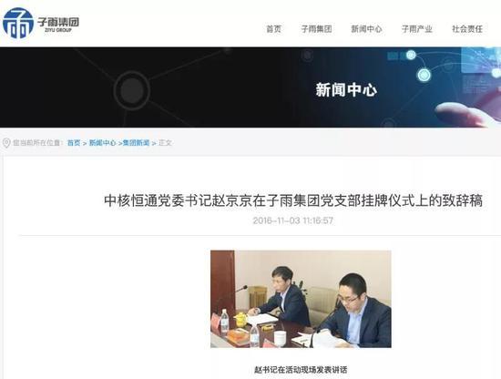 上图:截自江苏子雨集团官网