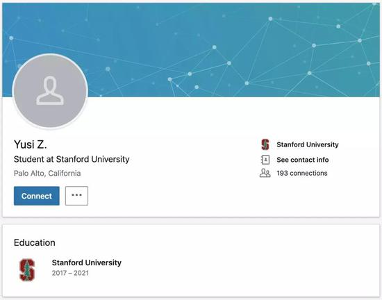Yusi Zhao的LinkedIn领英页面