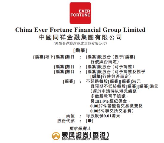 同祥金融拟香港IPO:三家典当行年收入不足7000万