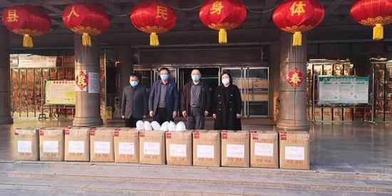 物资抵达河北省大名县