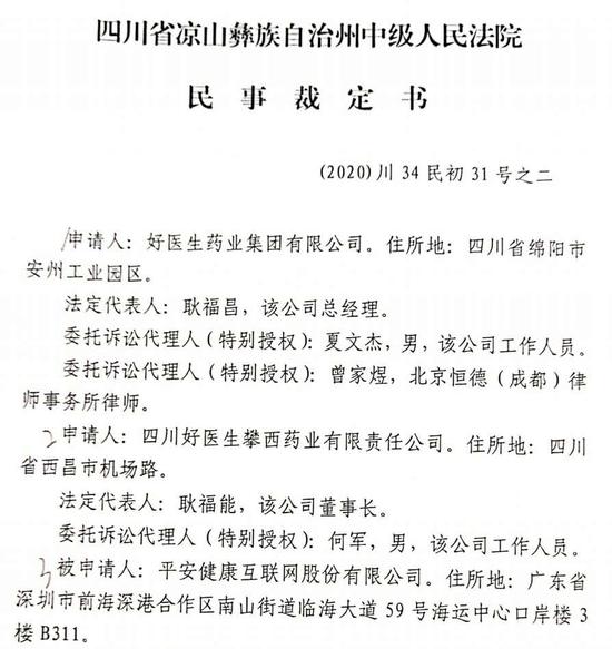 """7000万资金被法院冻结!""""平安好医生""""面临最后时刻"""
