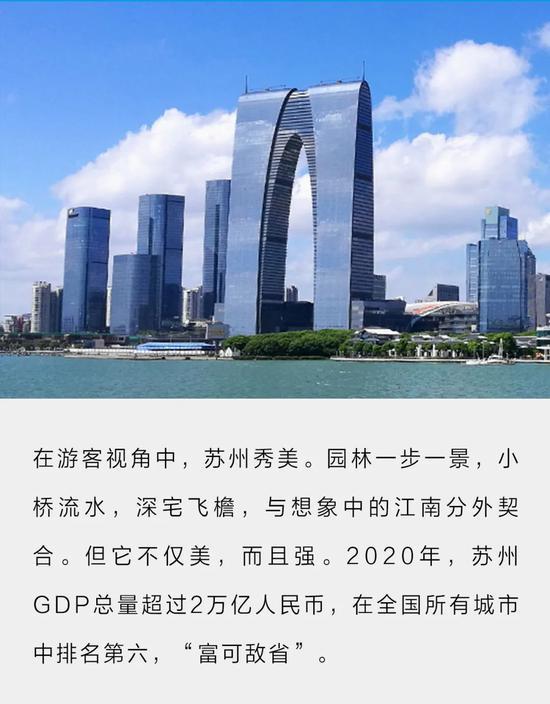 GDP总量2.02万亿 苏州为什么这么富?