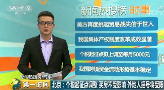 北京:个税起征点调整买房不受影响 外地人摇号受限