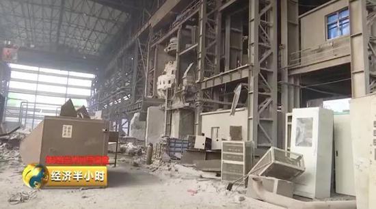 正在进走拆除的钢铁厂