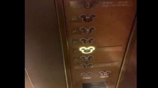 酒店电梯内的米奇声音