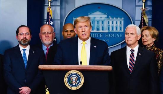 (资料图)当地时间3月9日,美国总统特朗普在白宫。中新社记者 陈孟统 摄