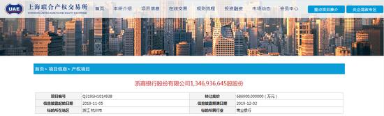 安邦集团接管工作组受托处置浙商银行7.2%股权
