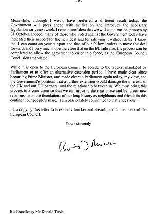 图说:鲍里斯发出的第三封信