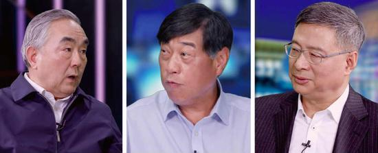 (左首:杨凯生、王波明、李礼辉)