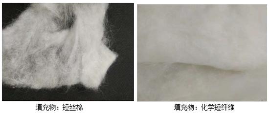 符合要求的原料与不符合要求的原料对比。图片来源/广州消委会官网