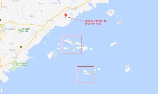 ▲御龙渔业与獐子岛暗示图