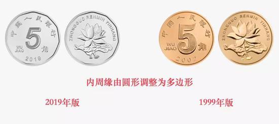 5角硬币防伪特征