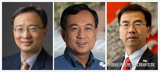 左首:沈建光、董晨、陈玉东