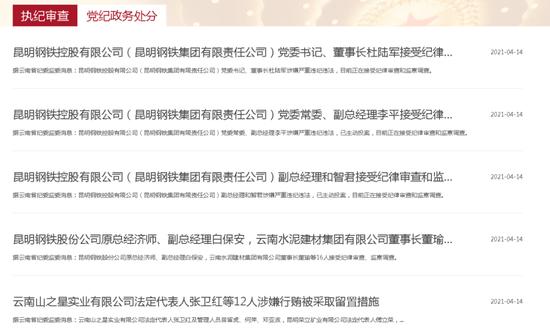 """财经TOP10 云南反腐大扫除:31人被查 千亿国企昆钢""""大地震"""""""