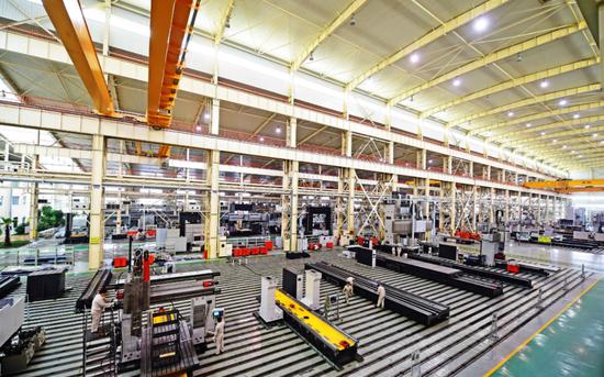 中捷机床有限公司机床生产车间。