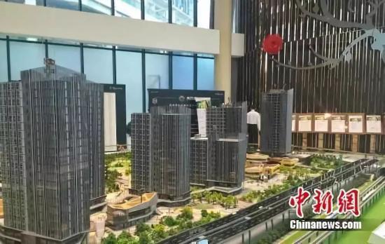 北京房山区某商改住楼盘销售中心。中新网种卿 摄