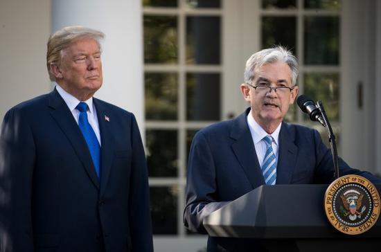 特朗普与鲍威尔 来源:Getty Images