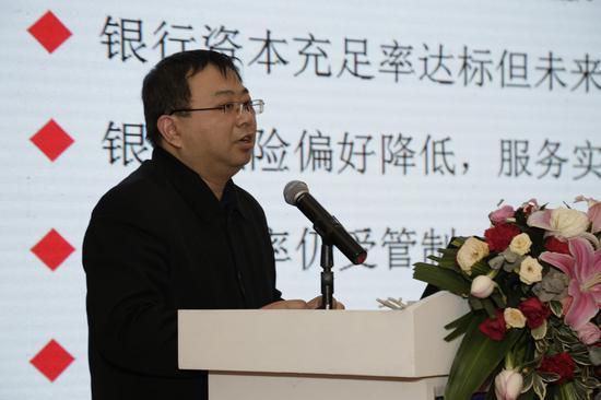 图为国务院发展钻研中心金融钻研所副钻研员王刚