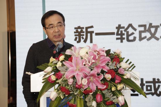 图为国家新闻中心经济展望部副主任王远鸿