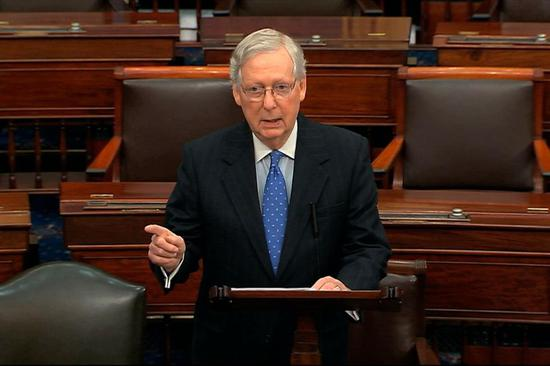 参议院多数党领袖麦康奈尔:若达成刺激协议 参议院将进行表决