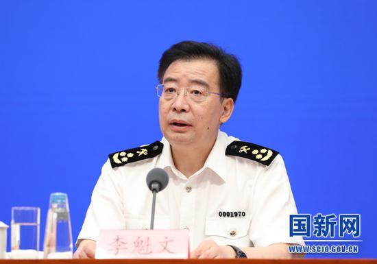 海关总署新闻发言人、统计分析司司长李魁文