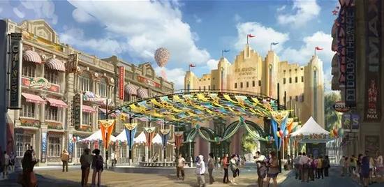 即将在9月21日开业的河南建业·华谊兄弟电影小镇。
