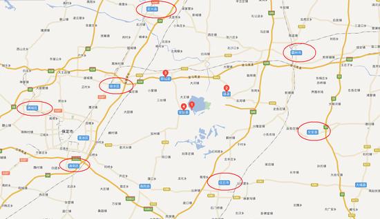 雄安新区周边地区地图示意