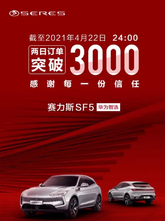 华为两天卖了3000辆车 一辆车赚1万