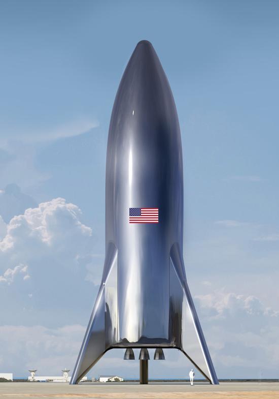 SpaceX最新飞船概念图曝光:马斯克华丽的星际飞行梦