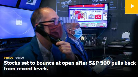 美股盘前:道指期货涨0.5% 市场聚焦零售数据
