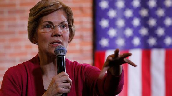 美国民主党资深参议员伊丽莎白-沃伦提议对超级富豪征收财富税